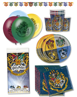 Kit de festa Harry Potter Casas 16 pessoas premium