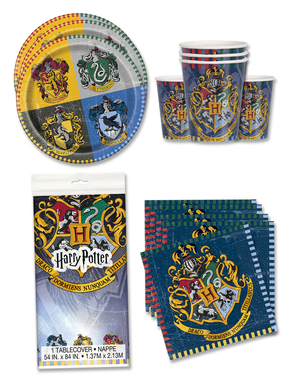 Decorazioni compleanno Harry Potter 16 persone - Hogwarts