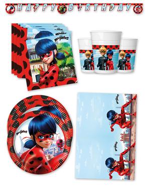 Décoration anniversaire premium Ladybug Miraculous 16 personnes