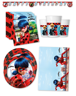Premium Ladybug Birthday Decorations for 16 People