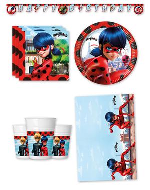 Ladybug Geburtstagsdeko Premium 8 Personen