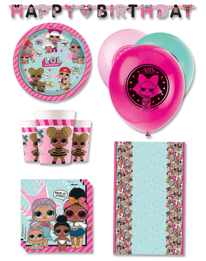 Kit decoration table anniversaire LOL Surprise 8 personnes premium