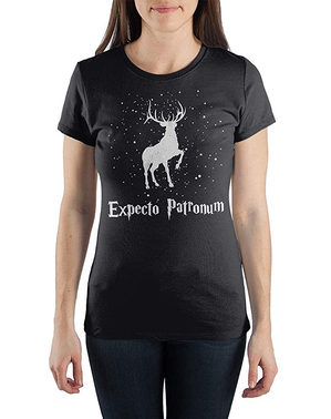 女性のためのハリーポッター鹿ExpectoパトロナムTシャツ