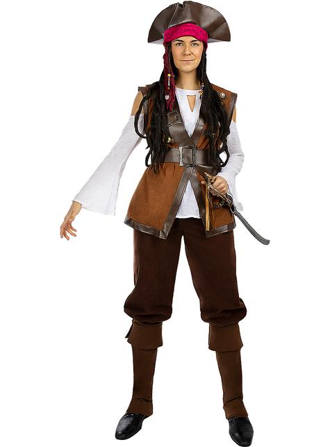 Piratin Kostüm für Damen in großer Größe - Karibik Kollektion