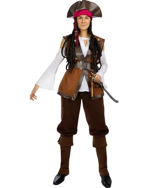 Fato de pirata para mulher tamanho grande - Coleção Caribe