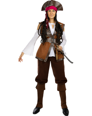 Макси дамски пиратски костюм– Карибска колекция
