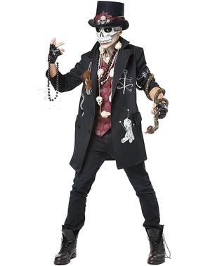 Disfraz de esqueleto vudú para hombre