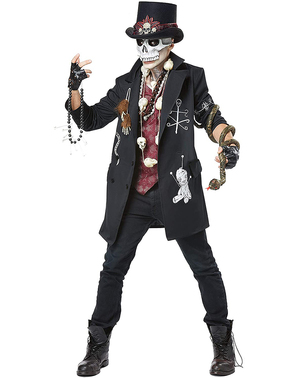 Voodoo Skeleton Costume for Men