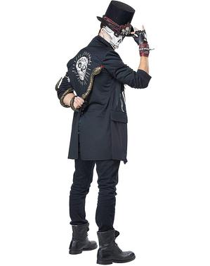 Costume da scheletro vodoo da uomo