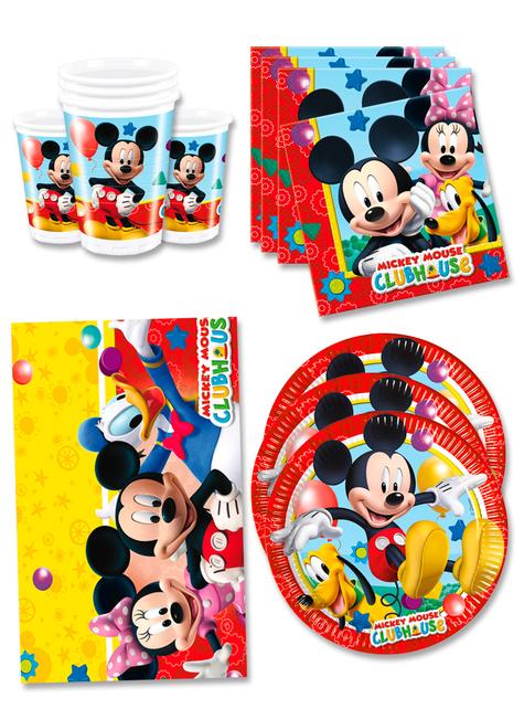 Decoración cumpleaños Mickey 16 personas - Club House
