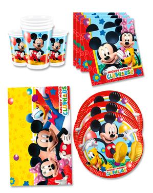 Födelsedagsdekoration Mickey 16 personer - Club House