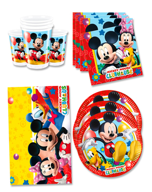 Mickey Birthday Decorations for 16 People - Club House
