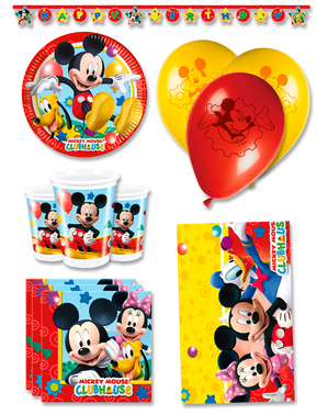 Kit anniversaire Mickey Club House premium 8 personnes