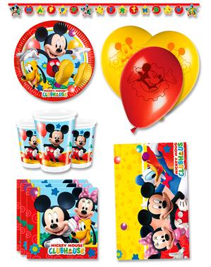 Decoración fiesta de cumpleaños Mickey premium 8 personas - Club House