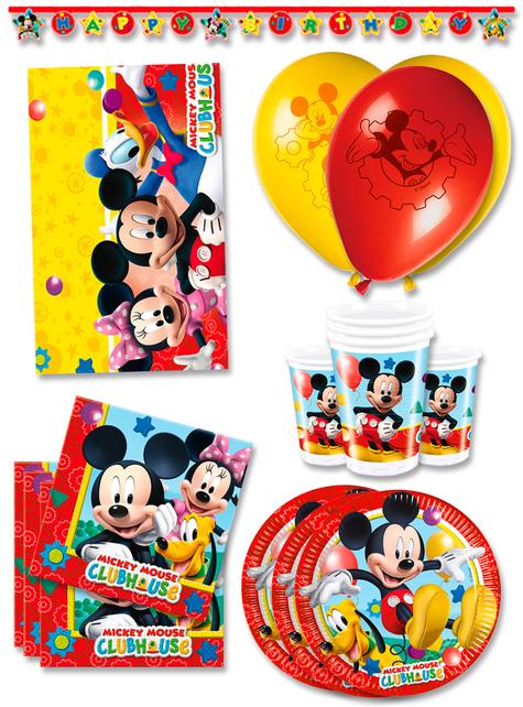 Decoración cumpleaños Mickey Club House premium 16 personas
