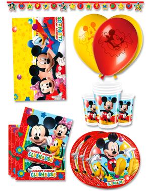 Décoration anniversaire Mickey premium 16 personnes - Club House