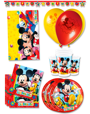 Premium Mickey Club House Birthday Decorations for 16 People