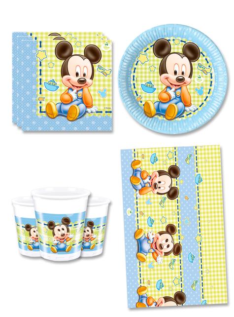 Dekoracje Urodzinowe Myszka Miki na 8 osób - Baby Mickey
