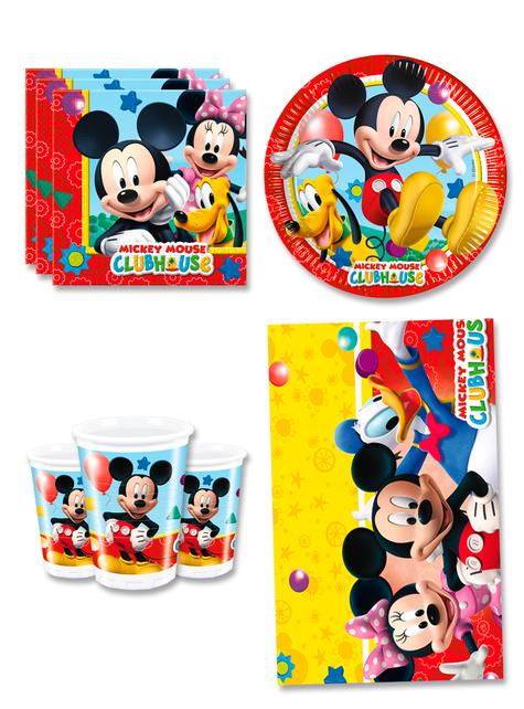 Decoración cumpleaños Mickey 8 personas - Club House
