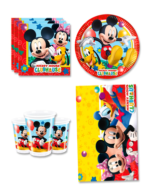 Mickey Birthday Decorations for 8 People - Club House