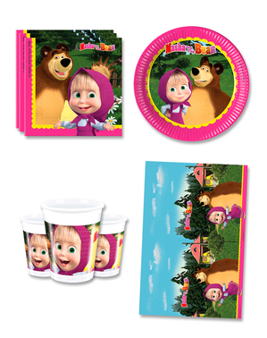 Masha and the Bear Verjaardagsdecoraties voor 8 personen