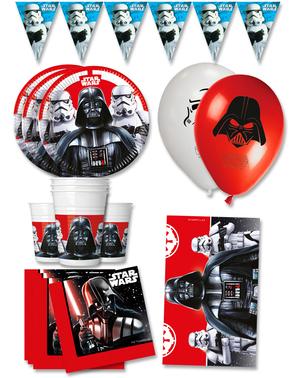 Decoración cumpleaños para Fiesta Star Wars premium 8 personas - Final Battle
