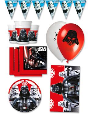 Decorazioni compleanno per Festa Star Wars premium 16 persone - Final Battle