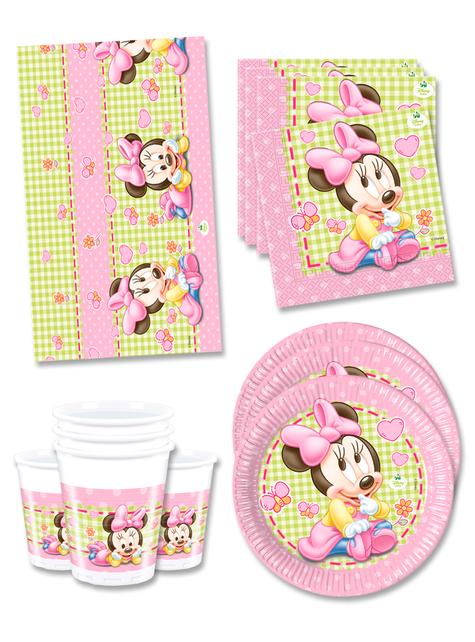 Decoración cumpleaños Baby Minnie 16 personas