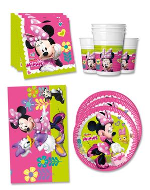 Narozeninové dekorace Minnie Mouse Junior premium pro 16 lidí
