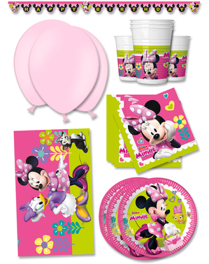 Décoration anniversaire premium Minnie Mouse Junior 16 personnes