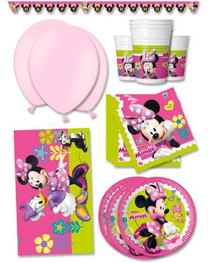 Minnie Maus Junior Geburtstagsdeko Premium 16 Personen