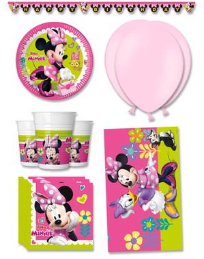 Décoration anniversaire premium Minnie Mouse Junior 8 personnes