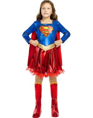 Costum Deluxe Supergirl pentru fete