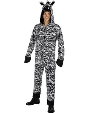 Costum de zebră pentru adulți