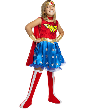 Costum Wonder Woman pentru fete