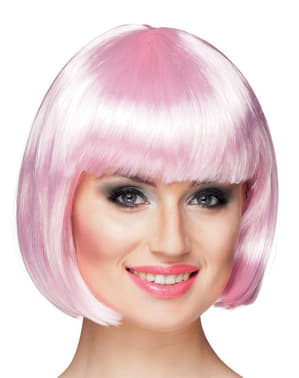 Woman's Pale Pink Half Wig with Fringe