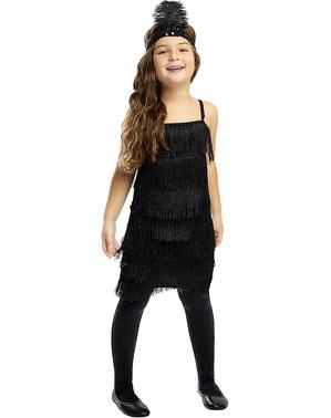 Детски костюм на флапър момиче в черно
