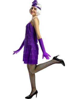 Charleston 20-tal Maskeraddräkt violett för henne