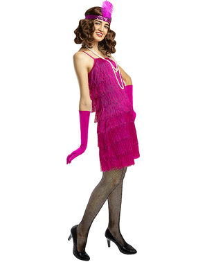 Костюм на флапър момиче в розово