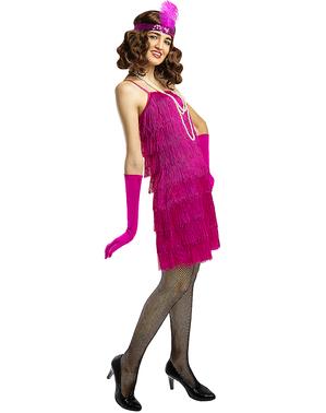 Růžový kostým Flapper z 20. let