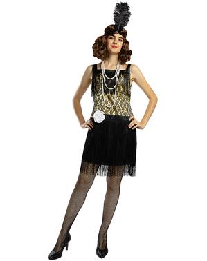 שמלת שנות ה-50 לנשים בצבע שחור