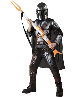 Deluxe The Mandalorian Kostyme til Barn - Star Wars