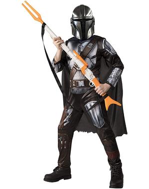 Fato The Mandalorian deluxe para menino - Star Wars