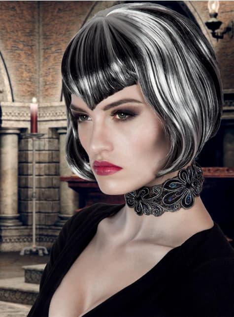 Peluca de vampiresa corte bob para mujer - original
