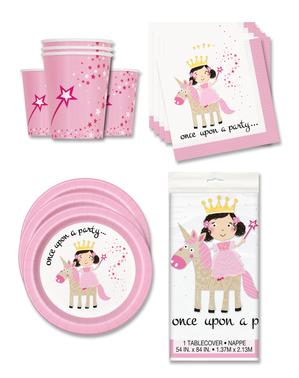 Décoration fête licorne et princesses 16 personnes - Magical Unicorn