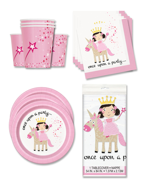 Unicorn and Princess Party Decorations for 16 People - Magical Unicorn