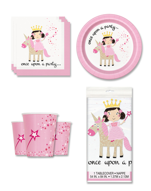 Unicorn and Princess Party Decorations for 8 People - Magical Unicorn