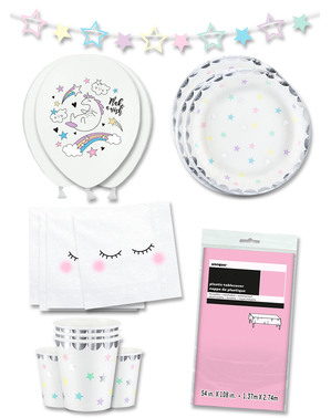 Einhorn Party Deko Premium 12 Personen - Unicorn Collection