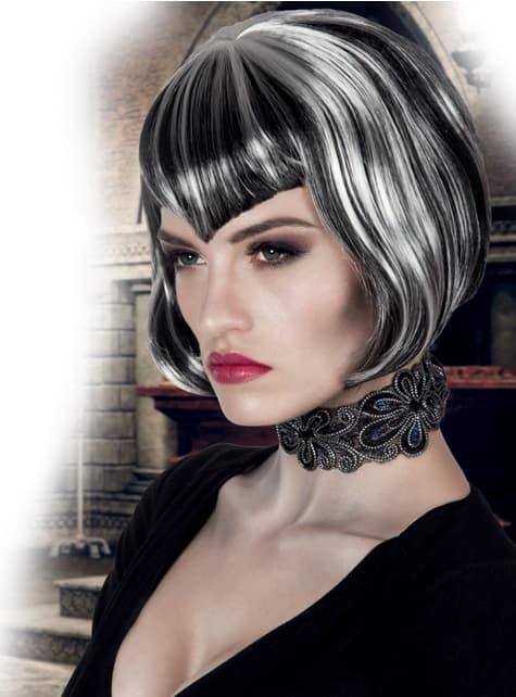 Peluca de vampiresa corte bob para mujer - barato