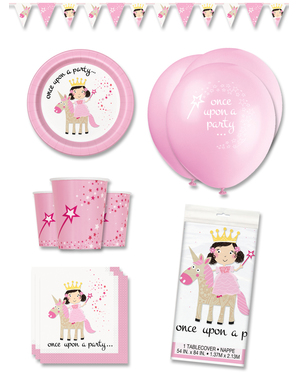 Premium Unicorn and Princess Party Decorations for 8 People - Magical Unicorn